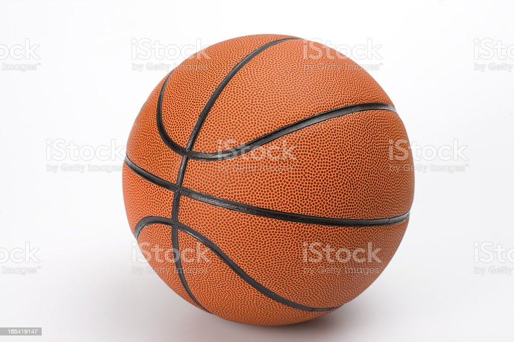 Basketball ball with clipping path royalty-free stock photo