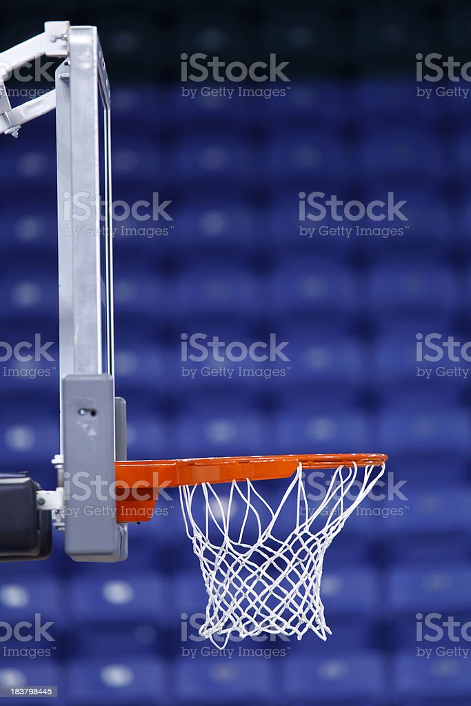 Basketball Basket Blue Seats Vertical royalty-free stock photo