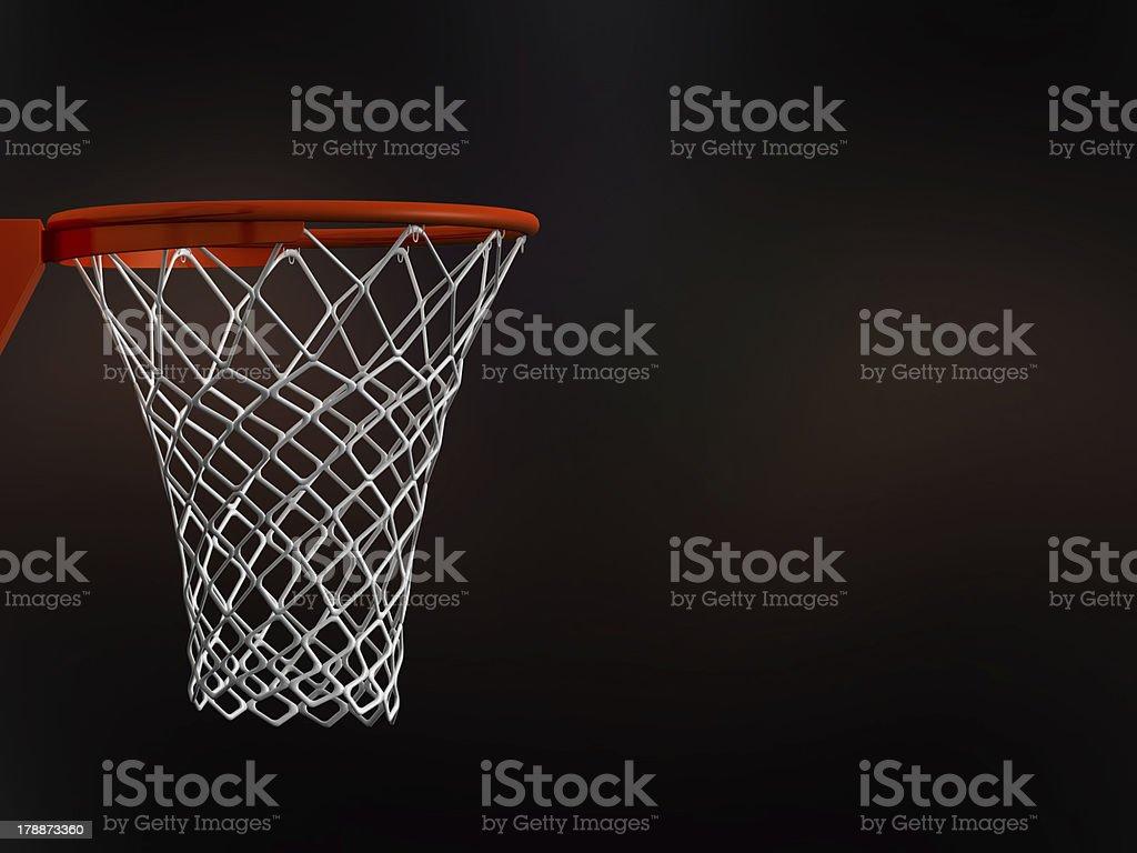 Basketball Basket in Arena royalty-free stock photo