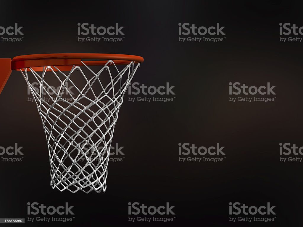 Basketball Basket in Arena stock photo