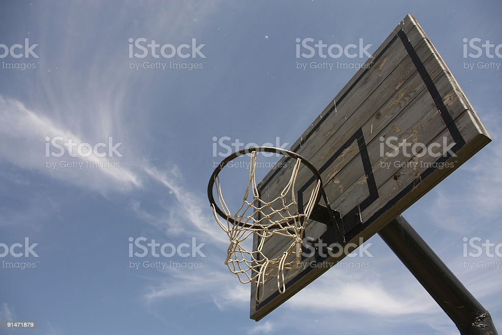 Basketball board in the sky royalty-free stock photo
