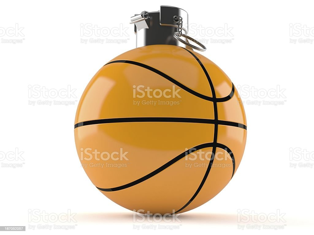 Basketball bomb royalty-free stock photo