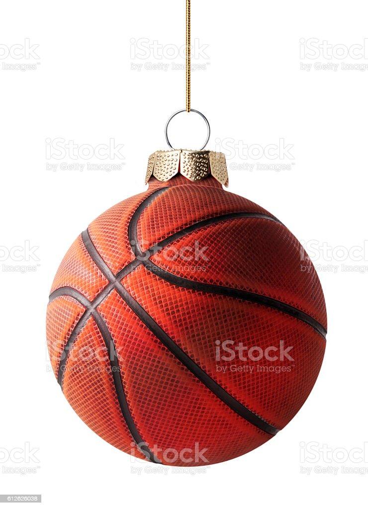 Basketball christmas ball stock photo