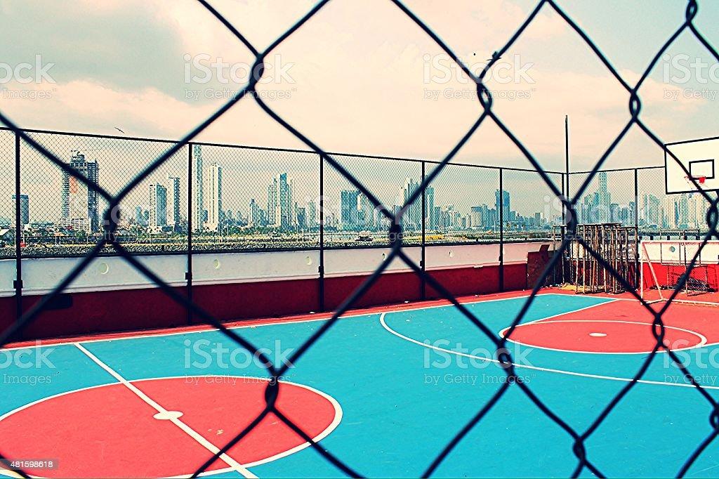 Basketball City stock photo