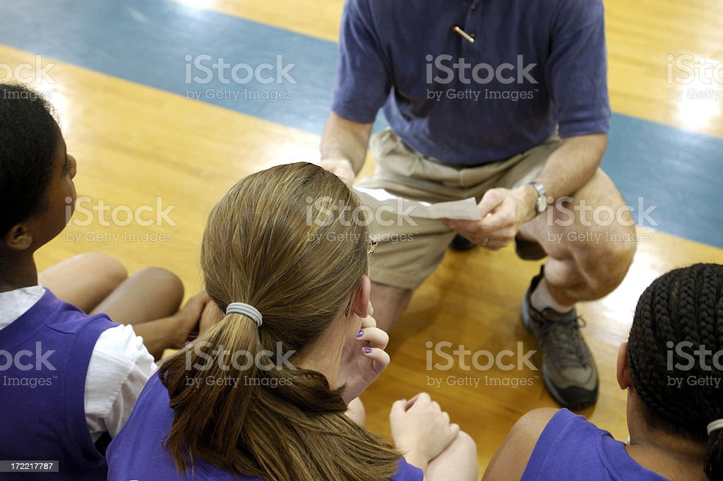 basketball coach stock photo