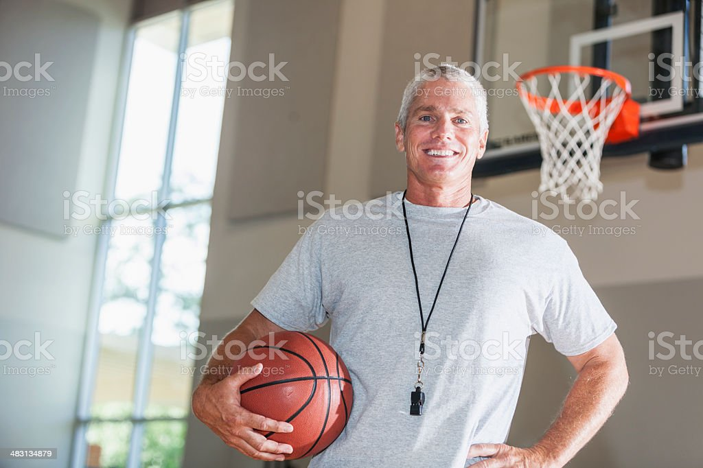 Basketball coach royalty-free stock photo