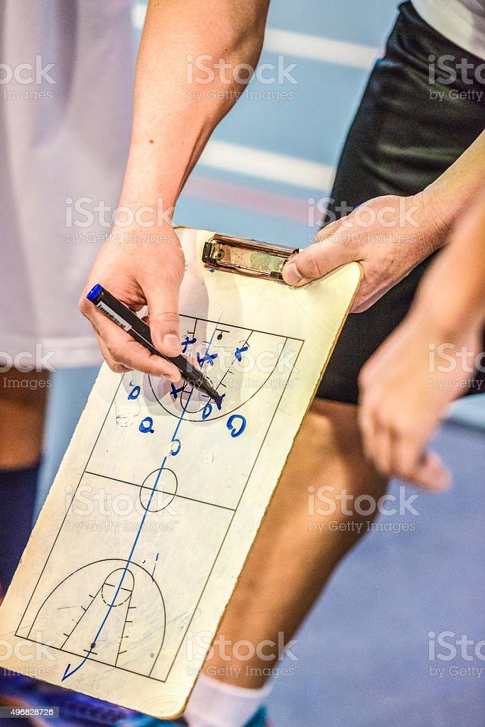 Basketball Coach stock photo