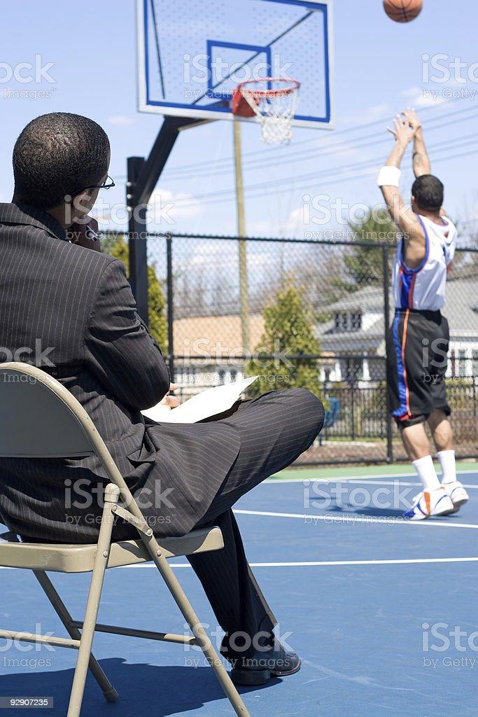 Basketball Coach royalty-free stock photo