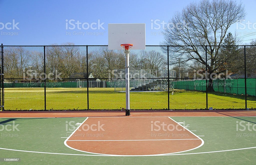 Basketball Court 2 royalty-free stock photo