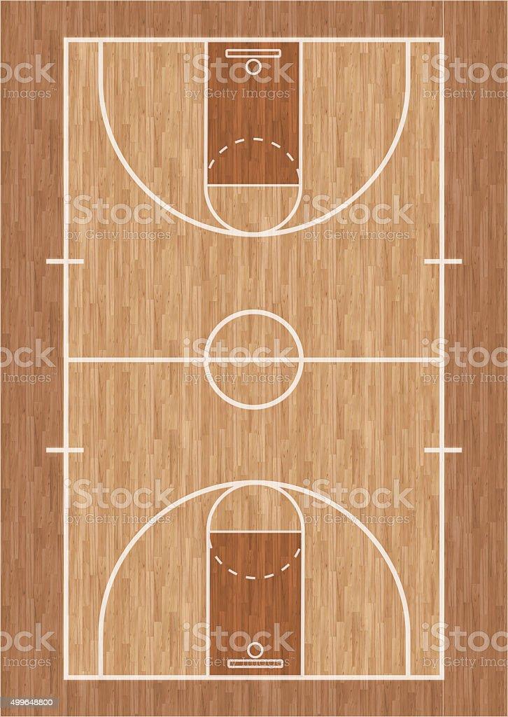 Basketball court illustration stock photo