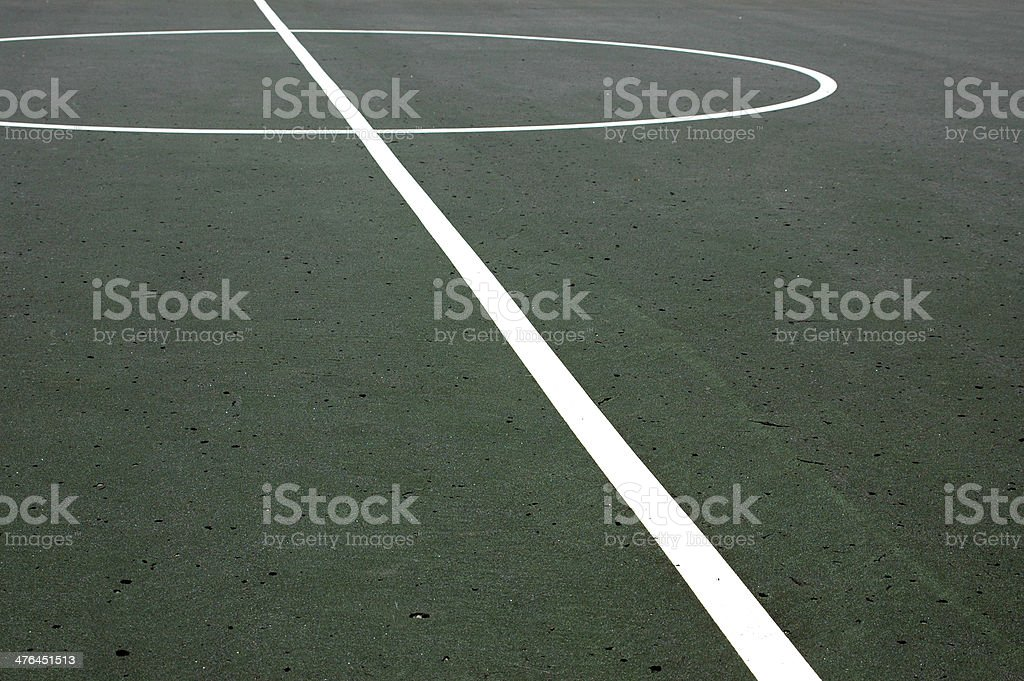 Basketball Court Lines stock photo