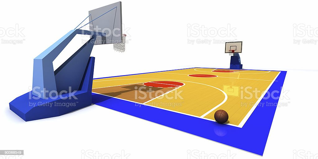 Basketball court royalty-free stock photo