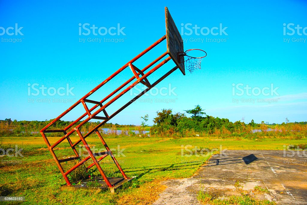 Basketball court Underdeveloped country stock photo