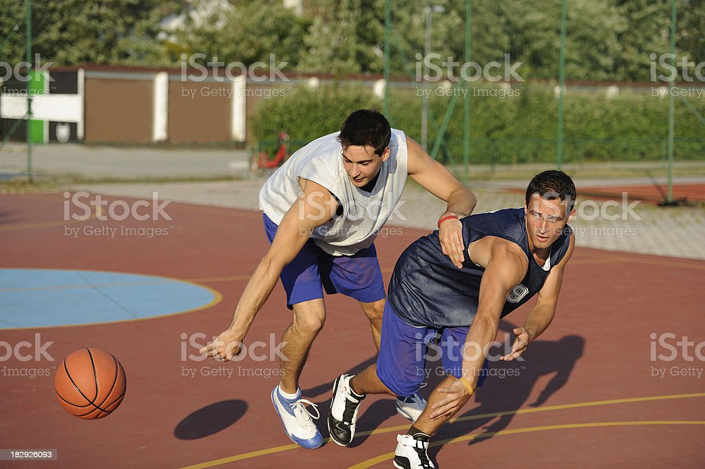 Basketball crossover dribble royalty-free stock photo