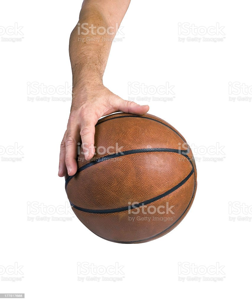 Basketball dribble royalty-free stock photo