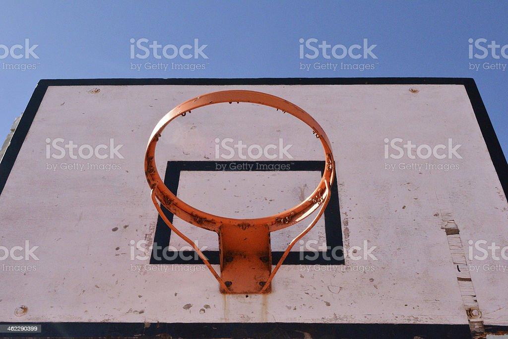 Basketball field stock photo