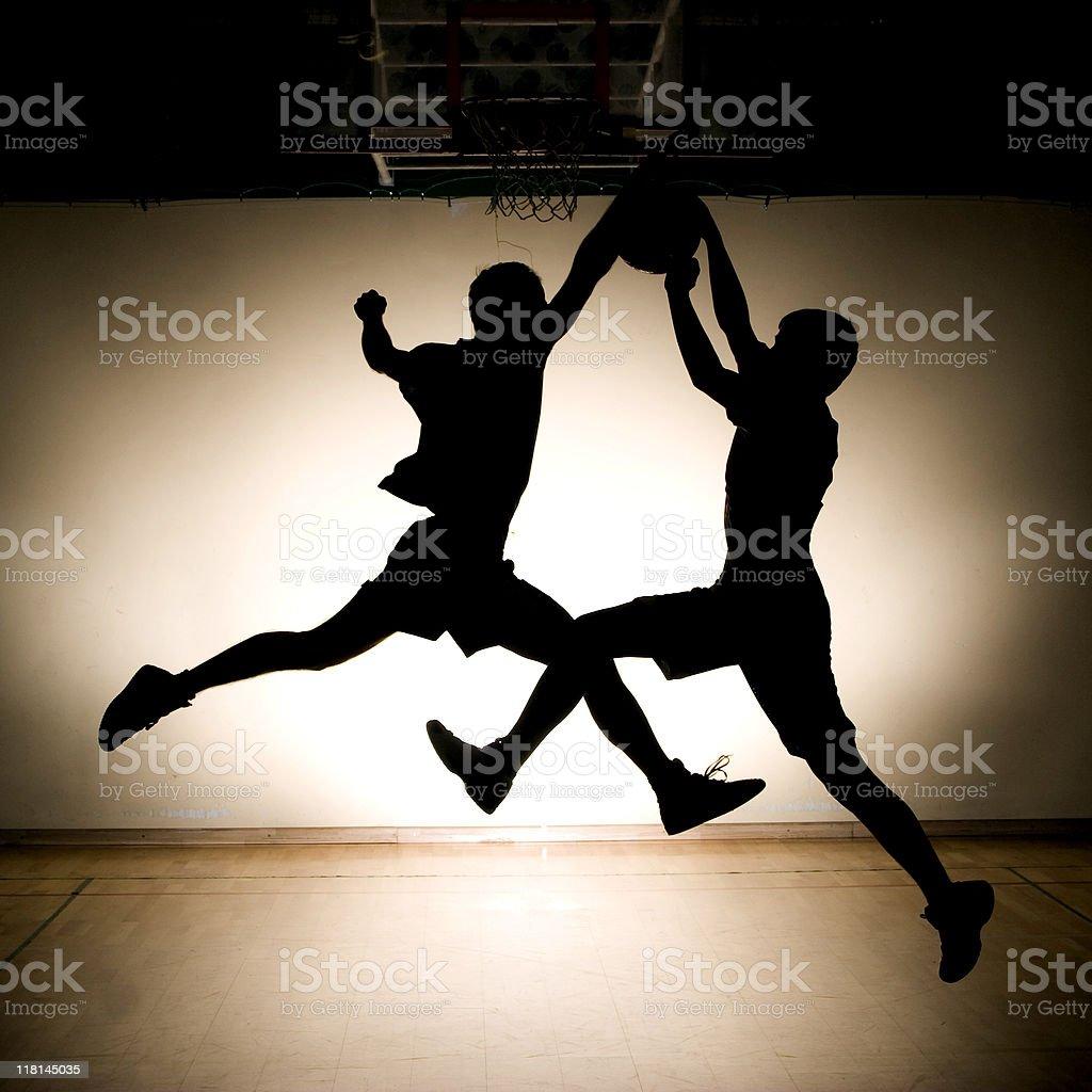 Basketball fight royalty-free stock photo