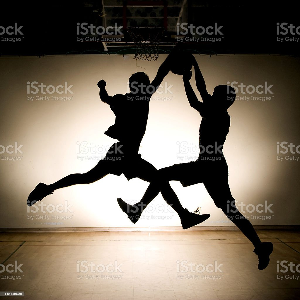 Basketball fight stock photo
