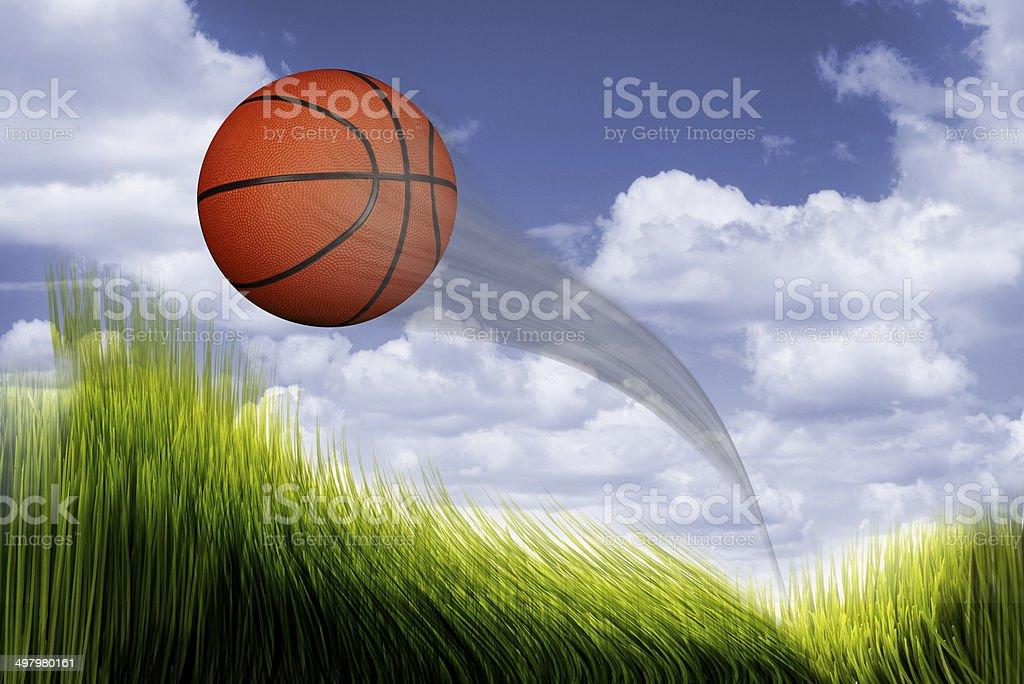 Basketball Flying. stock photo