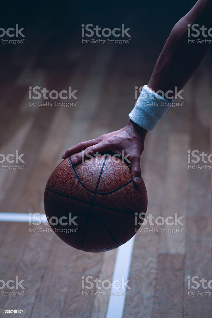 Basketball free throw stock photo