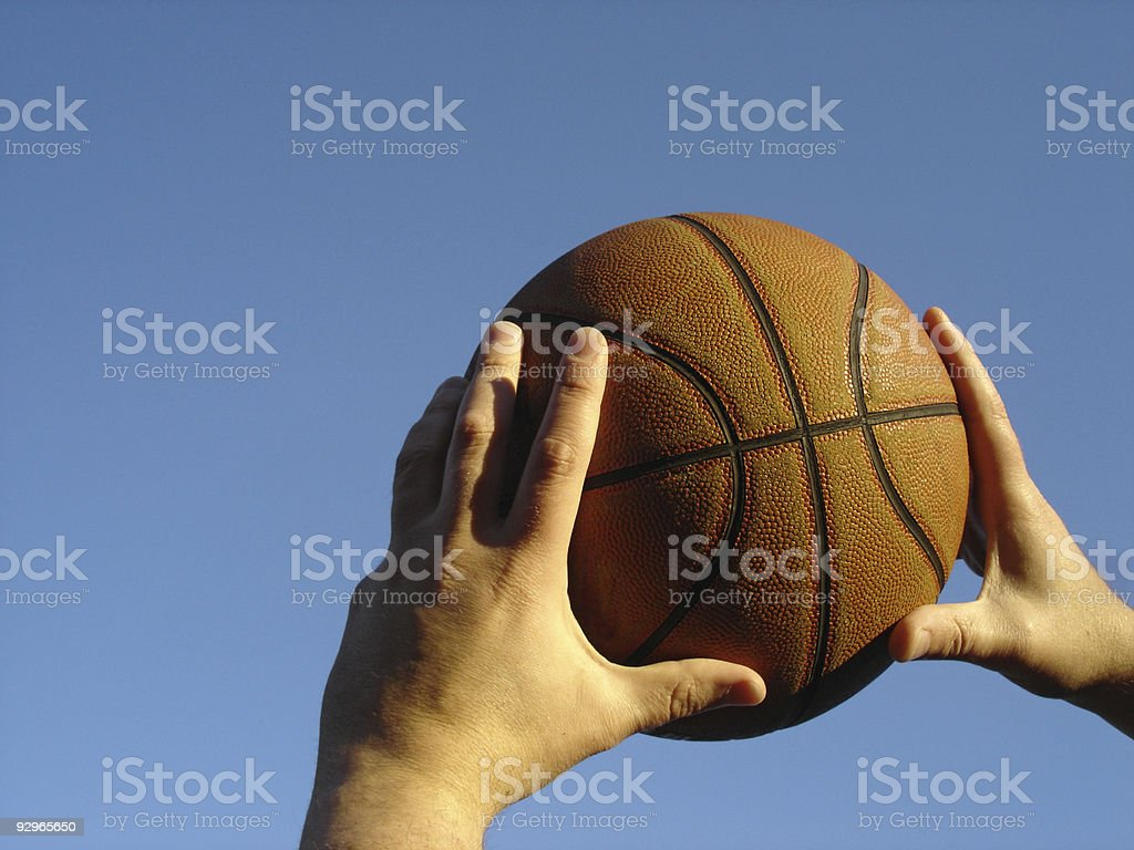 Basketball Free Throw stock photo