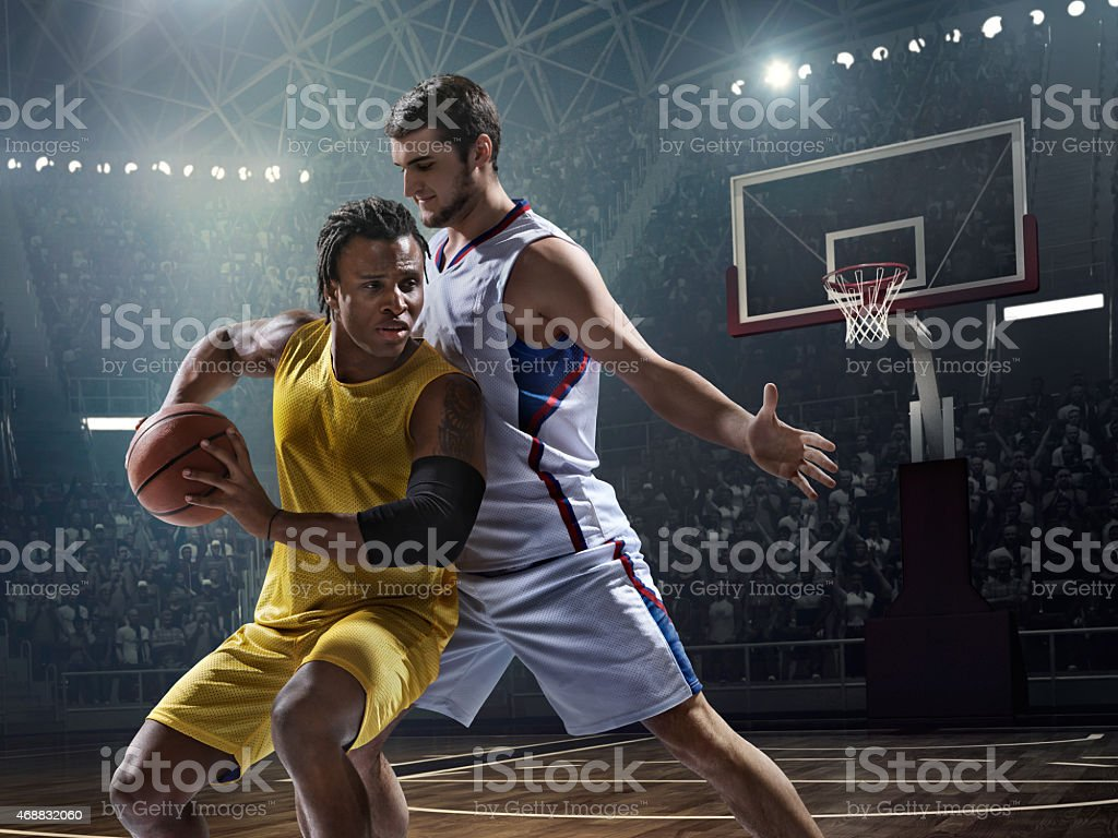 Basketball game moment stock photo
