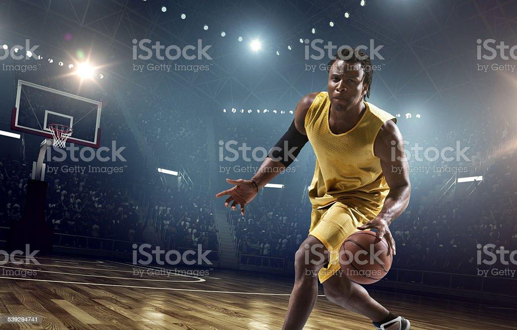 Basketball game moment stock photo