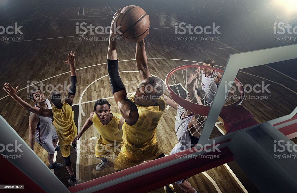 Basketball game moments stock photo