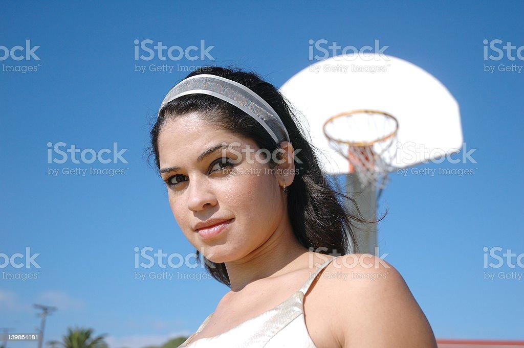Basketball girl 2 royalty-free stock photo