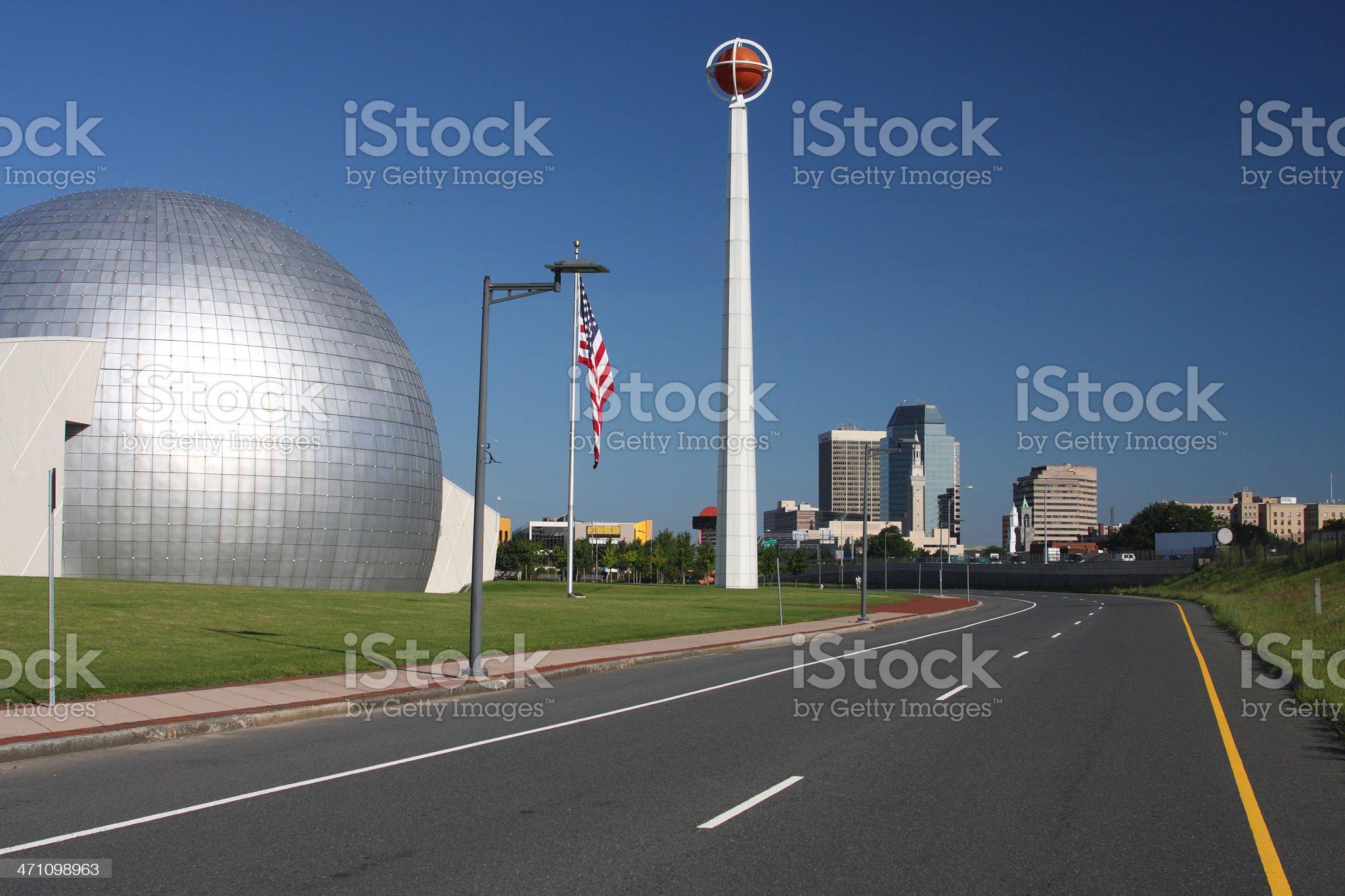 Basketball Hall of Fame royalty-free stock photo