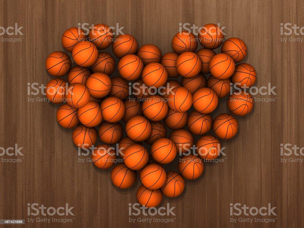 Basketball Heart stock photo