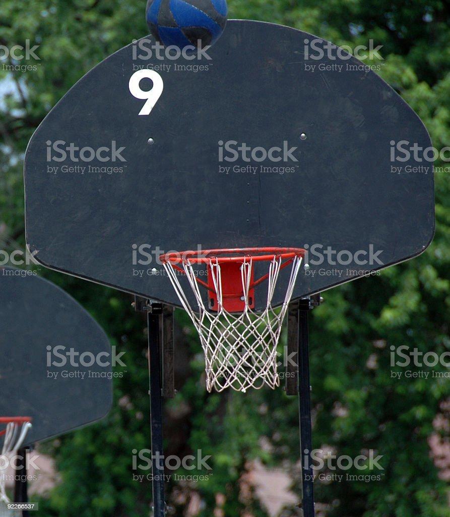 basketball hoop and back board stock photo
