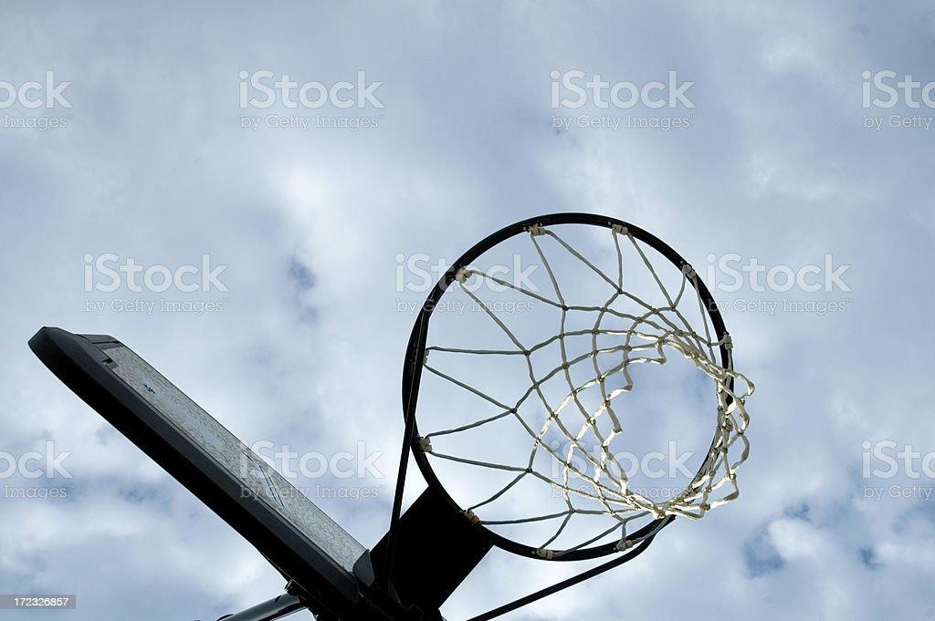 Basketball Hoop and Backboard stock photo