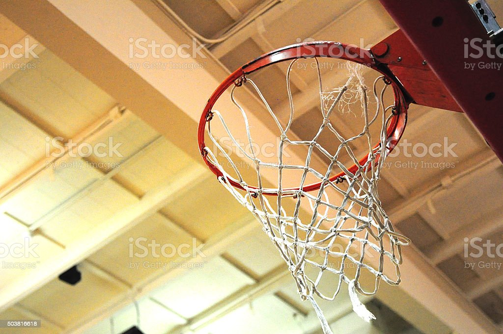 Basketball Hoop And Net Macro stock photo