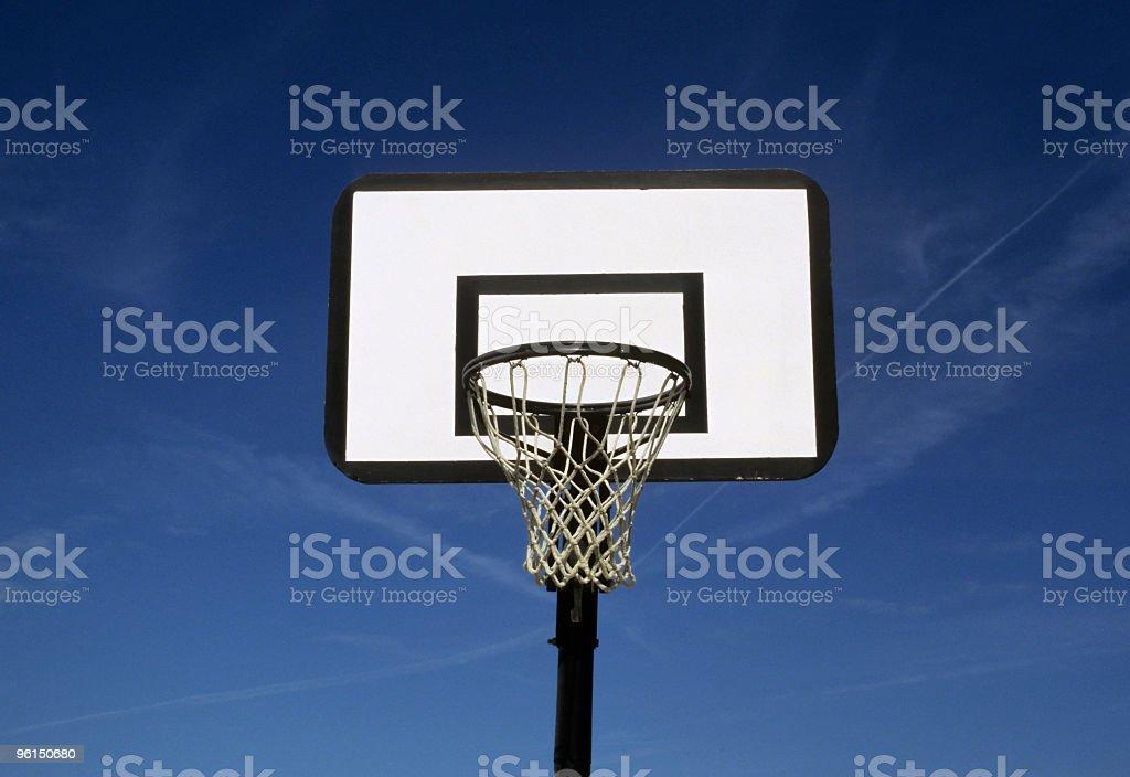 Basketball hoop, anterior view. stock photo
