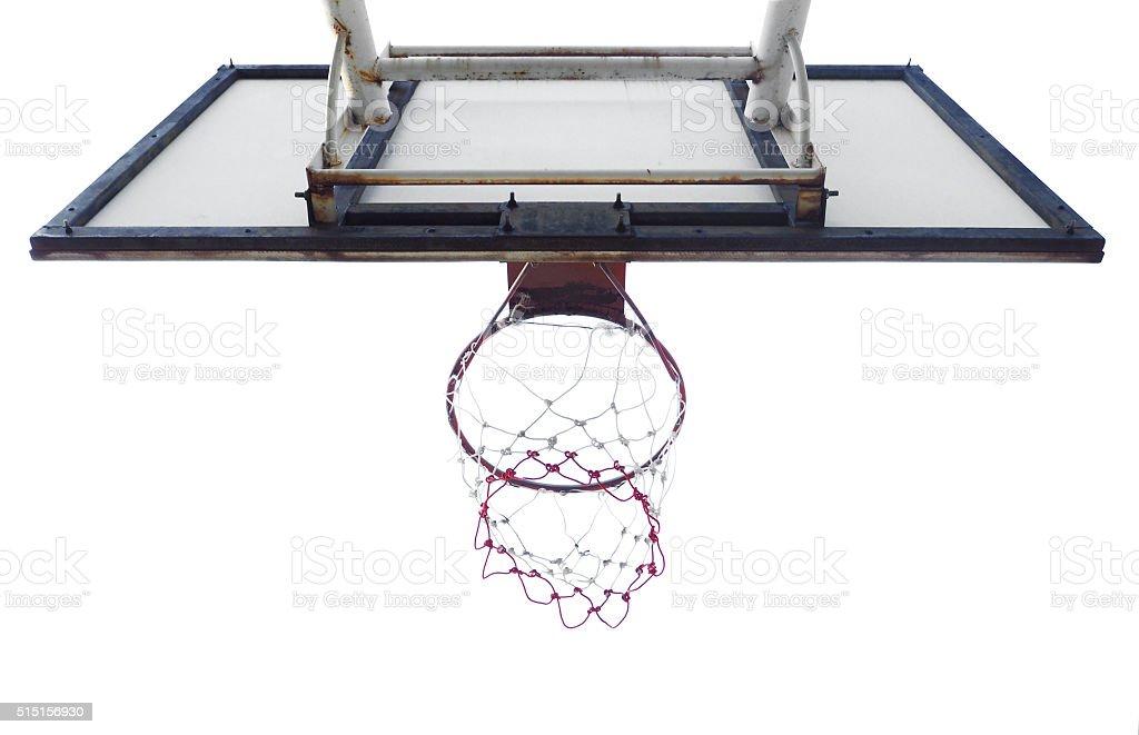 Basketball hoop cage stock photo