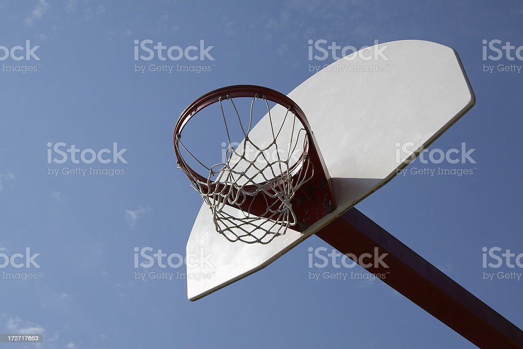 Basketball hoop in public park royalty-free stock photo