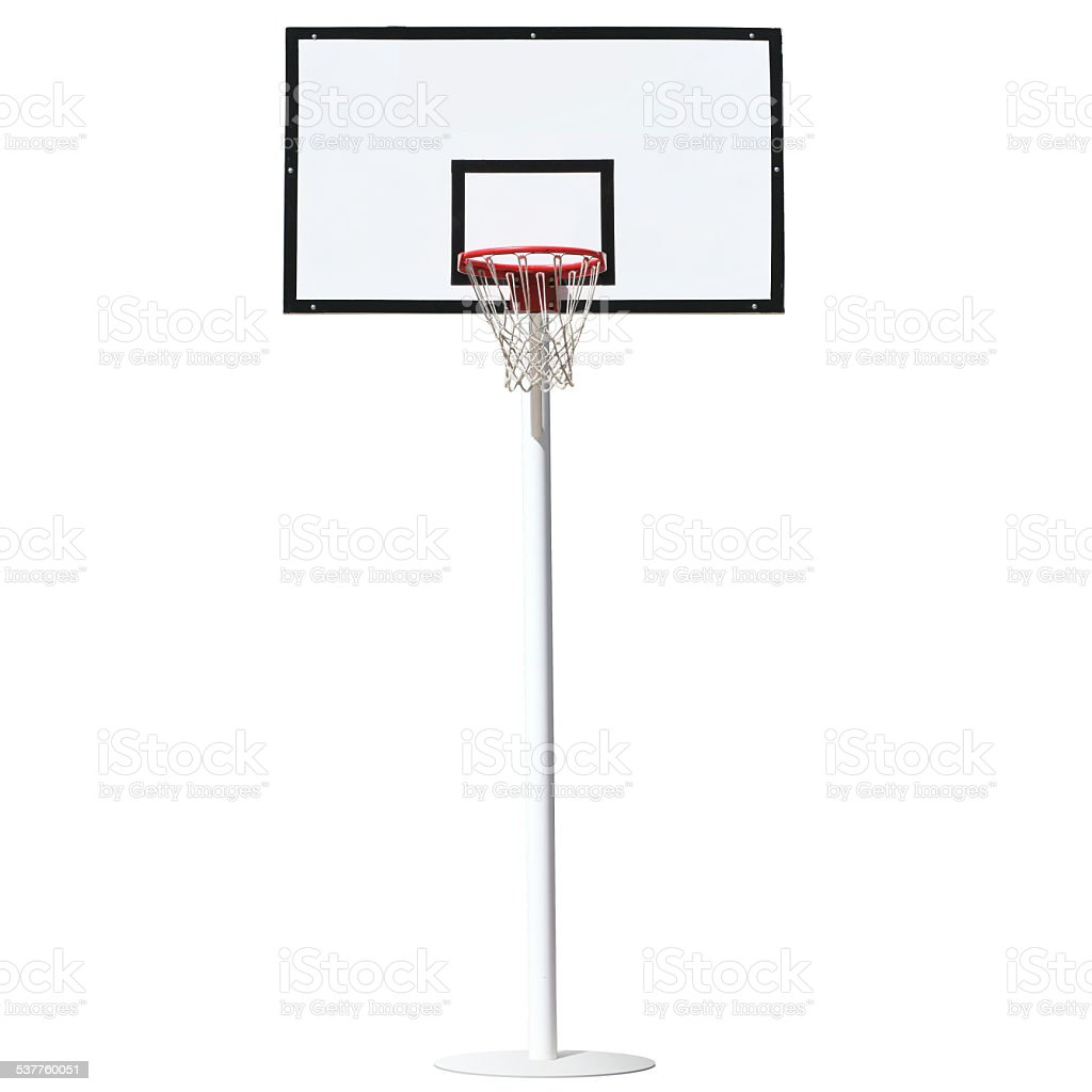 Basketball hoop isolated on a white background. stock photo