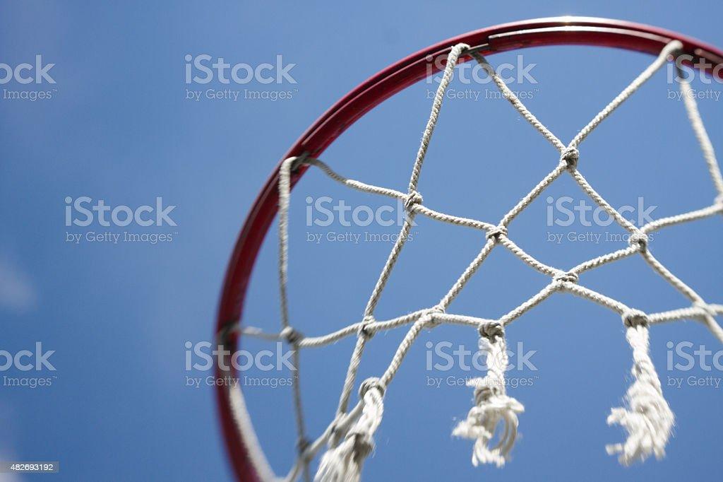 Basketball Hoop net sports background stock photo
