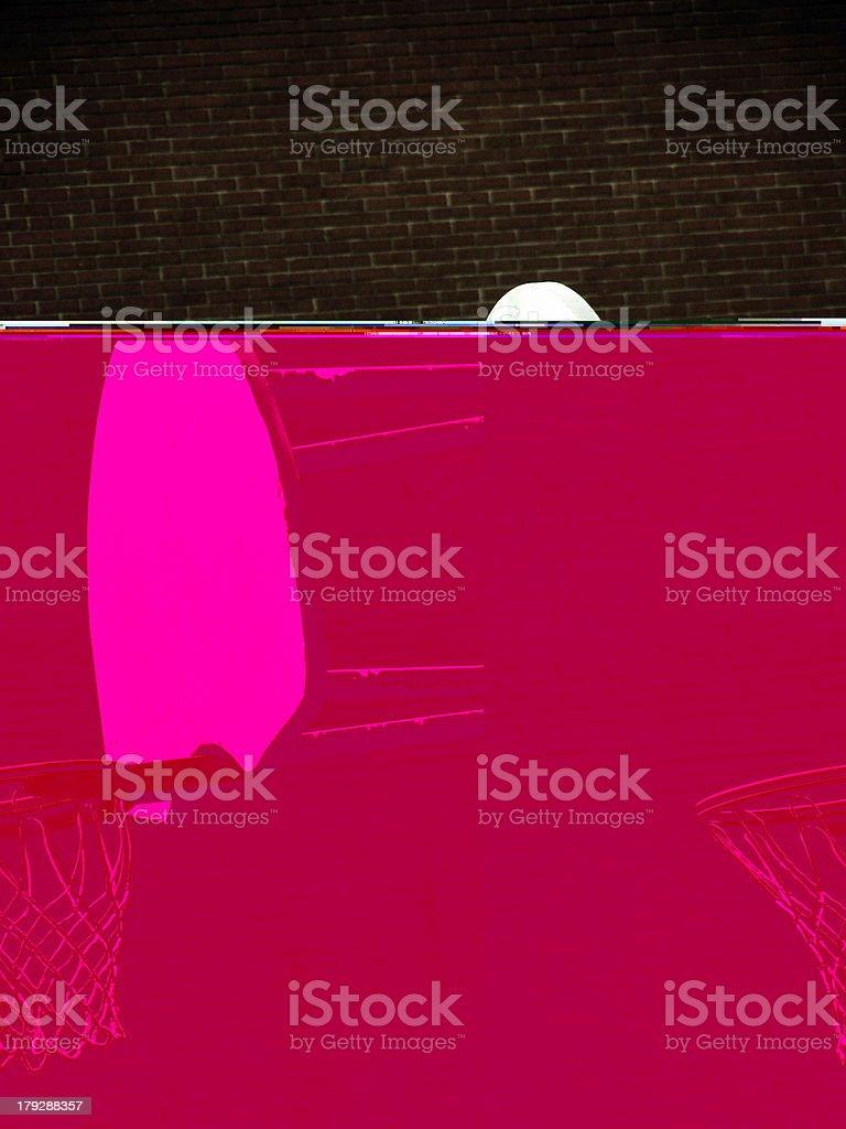 Basketball Hoop With Brick Wall royalty-free stock photo