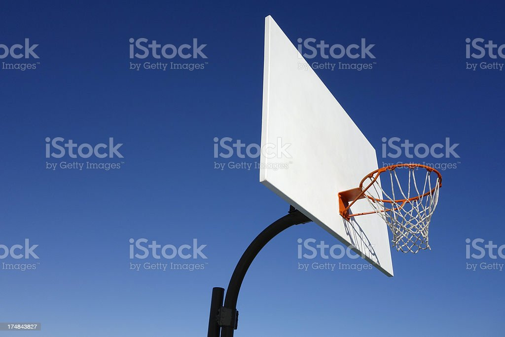 Basketball Hoop,And Blue Sky stock photo