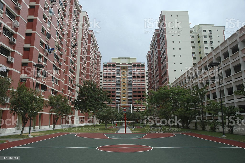 Basketball in Singapore stock photo