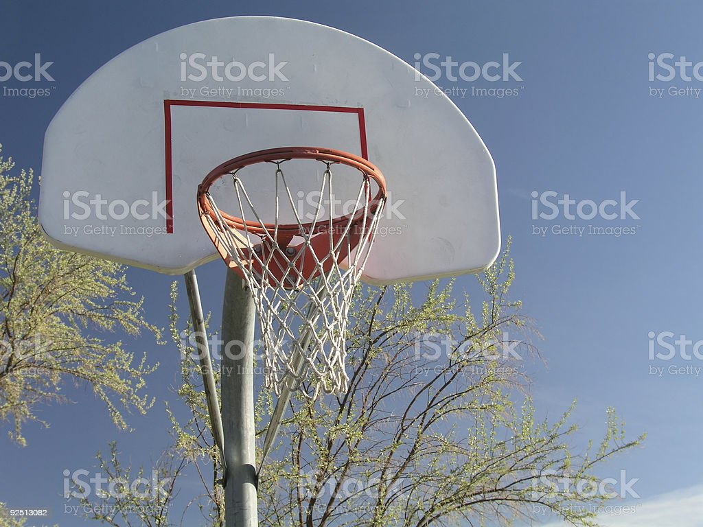 Basketball in the Park stock photo