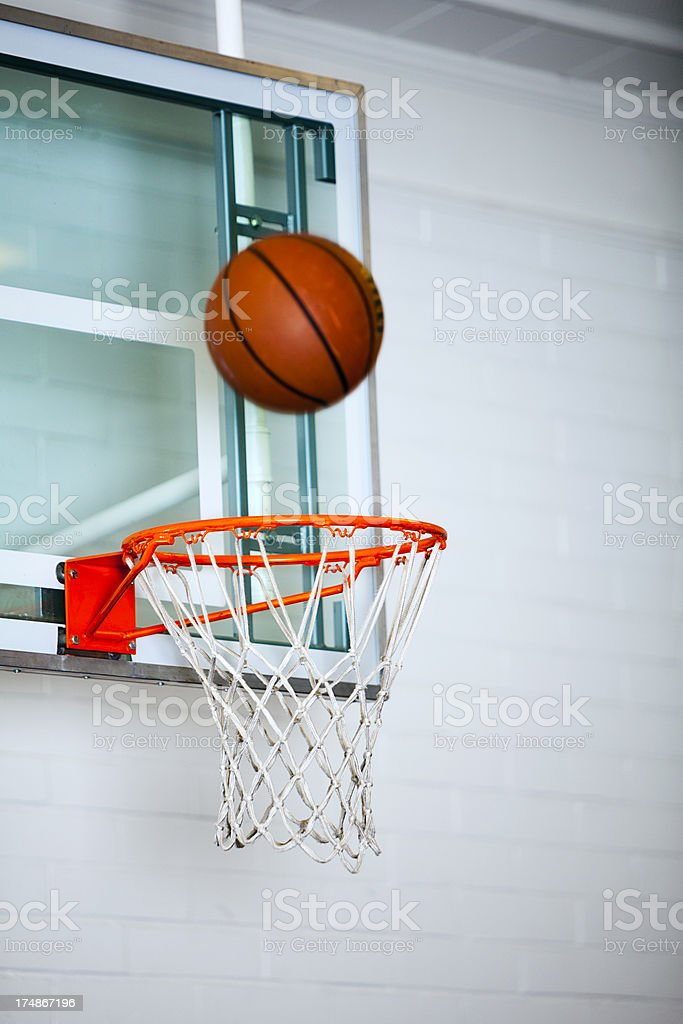 Basketball Indoor Bank Shot stock photo