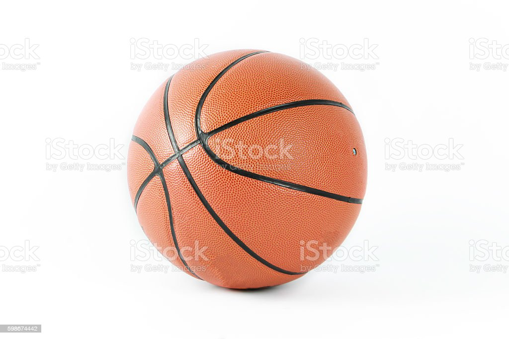 Basketball isolated on a white background famous sport stock photo
