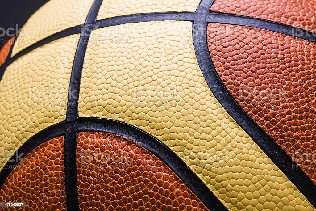 Basketball, isolated on black royalty-free stock photo