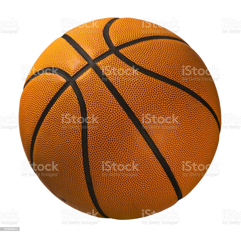 Basketball isolated on white royalty-free stock photo