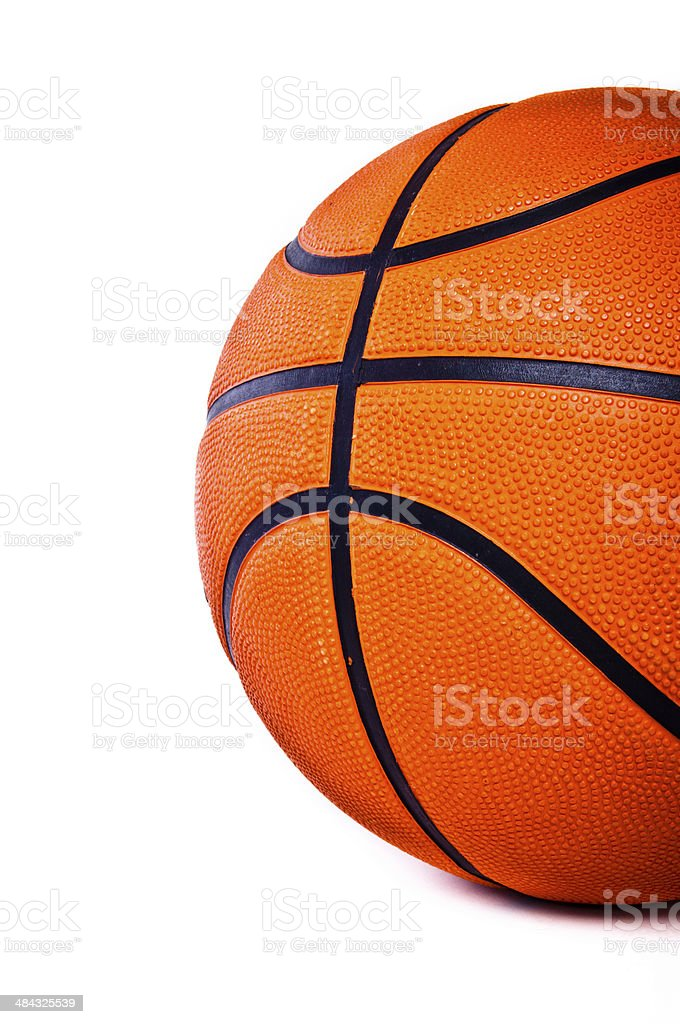 Basketball isolated. royalty-free stock photo