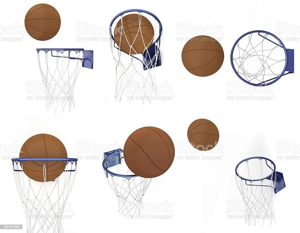 Basketball items royalty-free stock photo