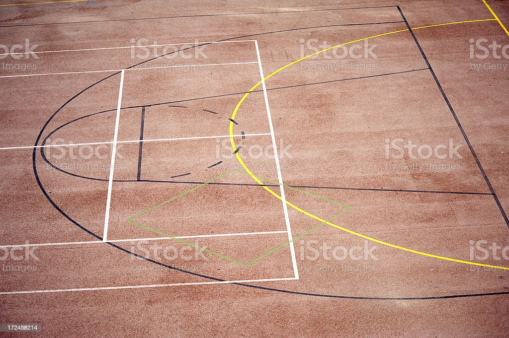 Basketball Lines royalty-free stock photo